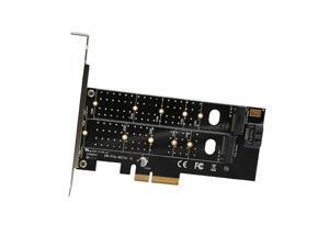 PCIe to M.2 dual NVMe SSD NGFF Riser card PCIE X4 adapter M Key B Key dual interface Expansion card