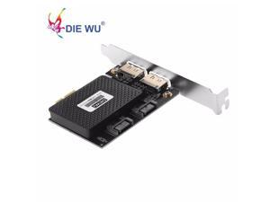 PCI Express PCI-E 1X to 2 ESATA +2 SATA3 Expansion card for ASMedia Supports hot-swapping TXB057