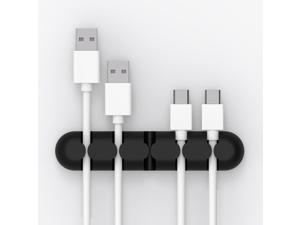 SUNSKY CBS5 Silicone Material Desktop Cable Manager Winder Fixer, Size: 9.6*2*1.2cm(Black/Orange/Pink/Grey/Blue)