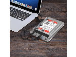 SUNSKY 3139U3 3.5 inch SATA HDD USB 3.0 Micro B External Hard Drive Enclosure Storage Case(Transparent)