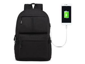 SUNSKY Universal Multi-Function Oxford Cloth Laptop Shoulders Bag Backpack with External USB Charging Port, Size: 46x32x12cm, For 15.6 inch and Below Macbook, Samsung, Lenovo, Sony, DELL Alienware
