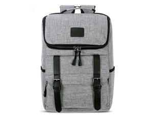 SUNSKY Universal Multi-Function Canvas Laptop Computer Shoulders Bag Leisurely Backpack Students Bag, Size: 43x30x14cm, For 15.6 inch and Below Macbook, Samsung, Lenovo, Sony, DELL Alienware, CHUWI