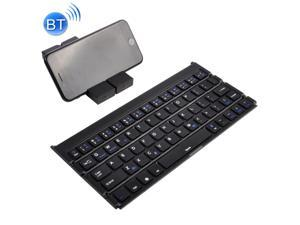 Black Gaming GK608 Ultra-Thin Foldable Bluetooth V3.0 Keyboard Color : Grey Support Android//iOS//Windows System Built-in Holder