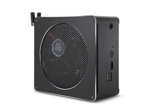 Mini PC for Intel Core 8th Gen i7-8750H 4G + 128G Six Core 2.2-4.1GHz, with Fan & Antenna, Support Bluetooth 4.2 & 2.4G / 5.0G Dual-band WiFi & RJ45 Gigabit Wired Network Card(Black)