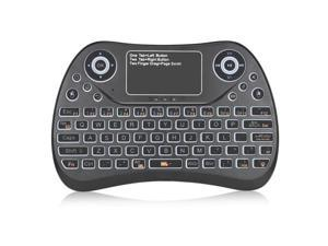 KB-168 2.4G Ultra Mini Air Mouse Wireless Keyboard with Touchpad Black
