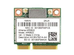 Atheros AR9462 AR5B22 WB222 WiFi Dual Band 2.4 & 5Ghz 300Mbps Bluetooth 4.0 Card