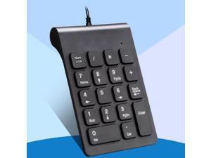 New Wired USB Numeric Keypad Numpad Number 18 keys Pad for Laptop PC