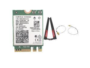 With AC88U 8dbi Antennas set + Wireless Intel Wi-Fi AX200 Bluetooth 5.0 802.11ax/ac MU-MIMO 2x2 Wifi NGFF Card AX200NGW