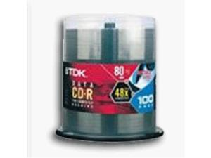TDK 700 MB 80-Minute CD-R Spindle (100 Discs) (Discontinued by Manufacturer)