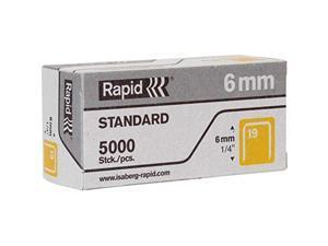 Rapid R23 No.19 Fine Wire 1/4 Staples - 0.25 Leg - 0.50 crown - 5000/Box