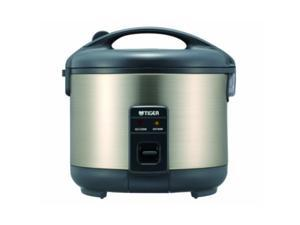 Tiger JNP-S10U-HU 5.5-cup (Uncooked) Rice cooker and Warmer, Stainless Steel gray