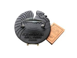 Iwgac Home Indoor Kitchen Old Mountain cast Iron Rooster grill Press