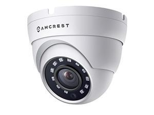 Amcrest Full HD 1080P 1920TVL Dome Outdoor Security Camera (Quadbrid 4-in1 HD-CVI/TVI/AHD/Analog) 2MP 1920x1080 98ft Night Vision Metal Housing 36mm Lens 90 Viewing Angle White (AMC1080DM36-W)