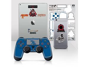 Controller Gear Officially Licensed God of War Dualshock 4 Wireless Controller and Tech Skin Set Fenrir - PlayStation 4
