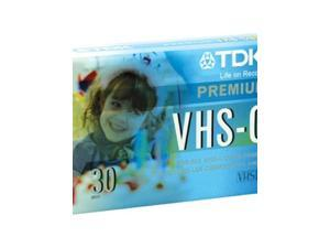 TDK VHS-C Premium Camcorder Tape 30 Minutes 3-Pack of Tapes