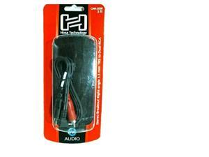 Right Angle 3.5mm Stereo Mini Male To Dual RCA Male Audio Y-Cable 3 Ft-by-Hosa