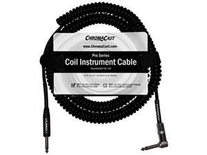 chromacast coil instrument cable 30feet, black cccoilcblsa30bk