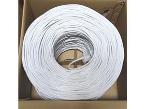 Premiertek CAT5E-1KFT-W 1000ft Cat5E White UTP 24AWG CCA Network Cable 4PP