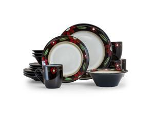 Elama Homestead 16 Piece Luxurious Stoneware Dinnerware with Complete Setting for 4 16pc