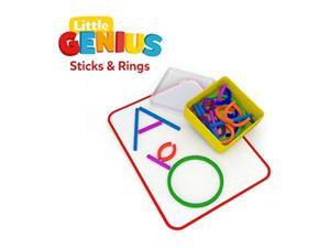 Osmo - Little Genius Sticks & Rings - 2 Games - ABCs & Squiggle Magic - Ages 3-5 - Imagination, Letter Formation, Fine Motor Skills & Creativity - For iPad or Fire Tablet (Osmo Base Required)