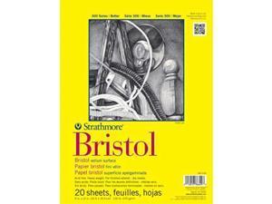 "Strathmore 342-109 300 Series Bristol Vellum Pad 9""x12"" Tape Bound 20 Sheets"