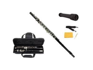 Merano Black Flute with Carrying case