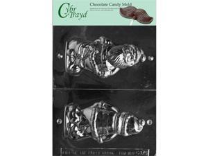 cybrtrayd Life of the Party c175 3D Santa with Bag chocolate candy Mold in Sealed Protective Poly Bag Imprinted with copyrighted cybrtrayd Molding Instructions