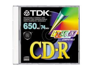TDK CD-R74MGAX CD-R 74 Minute 650 MB (Single with Jewel Case) (Discontinued by Manufacturer)
