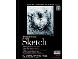 """Strathmore 455-9 400 Spiral Binding Acid-Free General Purpose Sketch Pad 60 lb 9"""" x 12"""" Size 50 Sheets 0.31"""" Height 12"""" Width 9.25"""" Length"""