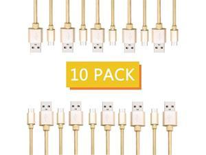 GranVela Micro USB Cable 40in/1m USB to Micro USB Charger Cable Nylon BraidedFast Charging for Android/Windows/PS4/Camera and More(10 PackGolden).