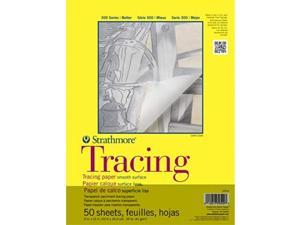 """Strathmore 370-9 300 Series Tracing Pad 9""""x12"""" Tape Bound 50 Sheets"""