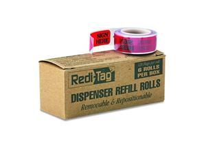 """Redi-Tag Self-Stick""""Sign HERE"""" Arrow Flags for Documents Message Arrow Page Flag 6-Roll Refills Red 120 Flags per Roll (91002)"""
