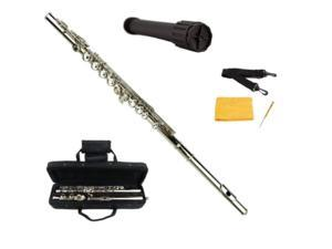 Merano Silver Flute with Carrying case