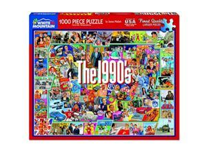 White Mountain Puzzles - The 1990s - 1,000 Piece Jigsaw Puzzle