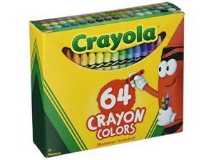 Crayola Crayons 64-Pack with Built-In Sharpener