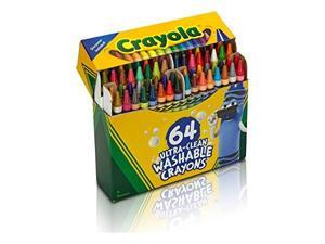 Crayola Crayons w/Built-in Sharpener Washable 64/PK Assorted 523287