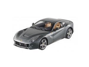 Ferrari F12 Berlinetta Grey 1/18 Diecast Car Model by Hotwheels