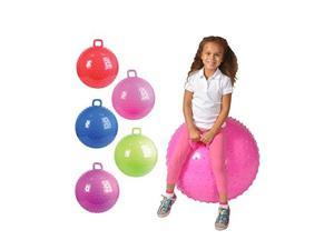 36 Knobby Bouncy Ball with Handle (Colors may vary)