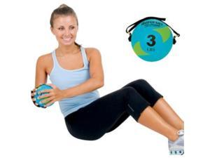 AeroMat 35943 5 in. Power Yoga & Pilates Weight Ball - Teal & Orange, 5 lbs