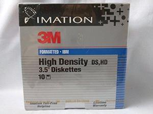 Imation 3M Formatted High Density 35 Diskettes 144 MB