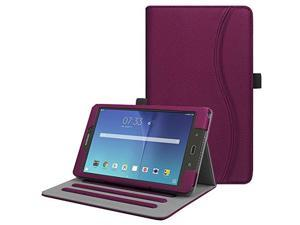 Fintie Case for Samsung Galaxy Tab E 80 [Corner Protection] Multi-Angle Viewing Stand Cover with Packet for Galaxy Tab E 32GB SM-T378 / Tab E 80-Inch SM-T375 / SM-T377 Tablet Purple