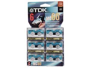 TDK MC60-6PK Microcassette Recording Tape (Discontinued by Manufacturer)