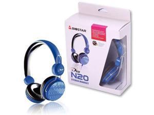 Biostar iDEQ N20 Supraural 35mm Stereo Headset with Mic (Blue)