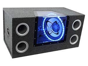 Pyramid - Dual 12'' 1200 Watt Bandpass Speaker System w/Neon Accent Lighting