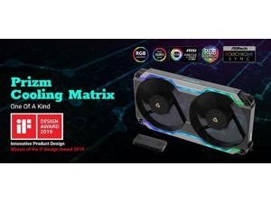 Antec Prizm Cooling Matrix. ARGB Single Bracket Dual Fan with 2x 120mm FDB PWM