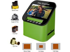 DIGITNOW Digital Film & Slide Scanner, Converts 35mm, 110 & 126 and Super 8 Films & 8mm Film Negatives & Slides to 22 Megapixel JPEG Images Includes 4.3 Inch TFT LCD Display