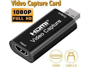 Audio Video Capture Card,HDMI to USB USB2.0 High Definition 1080p 30fps, Directly to Computer for Gaming, Streaming, Teaching, Video Conference or Live Broadcasting