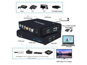 Vibob HDMI USB3 0 Video Game Capture Box Full HD 1080P Video Audio HDMI to  USB Converter, No-Driver, Support OBS/Protplayer and Windows Linux Os X