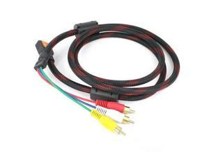 1.5M HDMI Male to 3 RCA(Red+Yellow+White) Video Audio AV Cable Cord Adapter for Home Digital High-definition TV