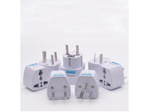 New Universal US UK AU To EU Plug Travel Wall AC Power Charger Outlet Adapter Converter 2 Round Pin Socket 7